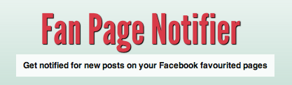 Notificaties over updates van een Facebook fanpagina