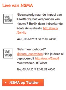 Twitter widget uitgebreid Nederlandse Social Media Academie