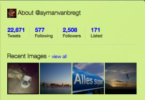 Galerij van foto's op Twitter