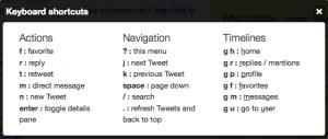 Sneltoetsen voor nieuwe Twitter interface