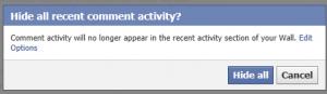 Verberg alle activiteiten op Facebook