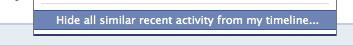 Verberg alle recente activiteiten op Facebook