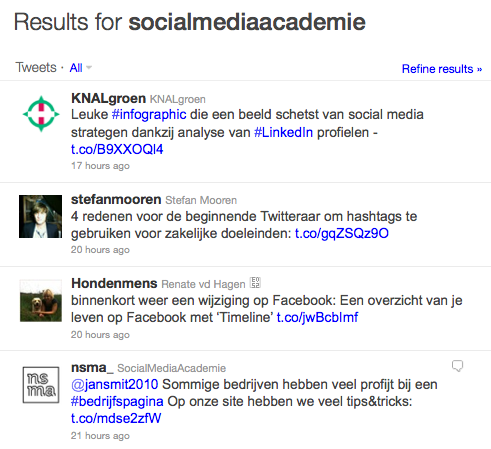 Links gedeeld via Twitter monitoren