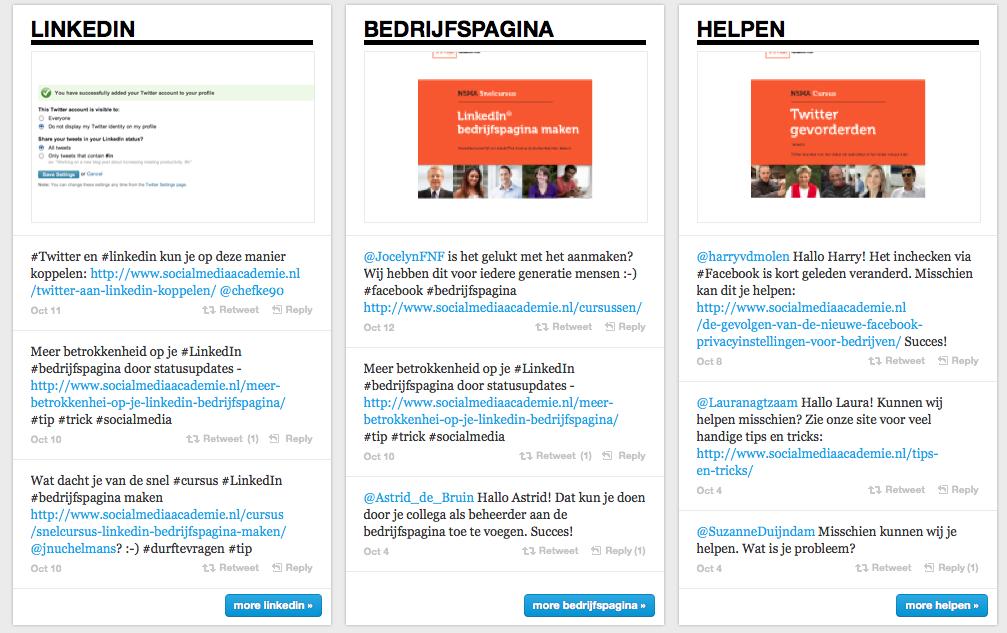 Creëer de beleving van een online bedrijfsmagazine met de Twitter tool Twylah