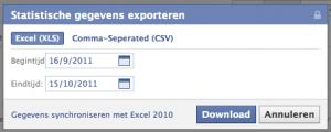 Statistieken van Facebook Bedrijfspagina's exporteren naar Excel