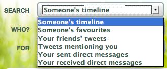 SnapBird zoekopties om oude berichten terug te vinden op Twitter