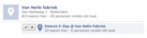 Dubbele plaatsen aan Facebook Places voorstellen