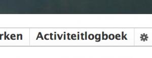 Kies voor 'Activiteitlogboek'