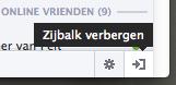 Zijbalk met Ticker en Chat verbergen op Facebook
