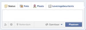 Een statusupdate plaatsen vanaf je Facebook Timeline