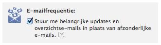 E-mailfrequentie instellen