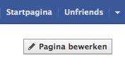 Kies voor 'Pagina bewerken' op je Facebook bedrijfspagina