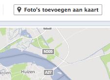 Foto's toevoegen aan kaart op Facebook
