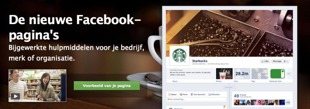 De nieuwe Facebook bedrijfspagina's
