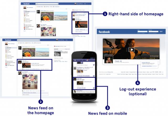 Nieuwe advertenties op Facebook