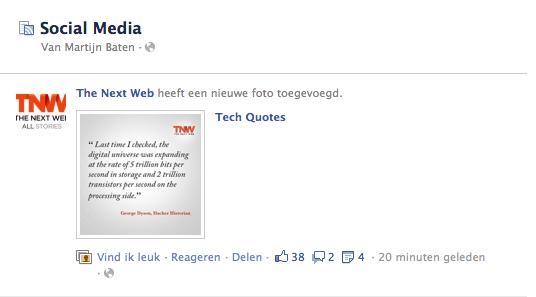 Bekijk de nieuwe Facebook Interesse lijst