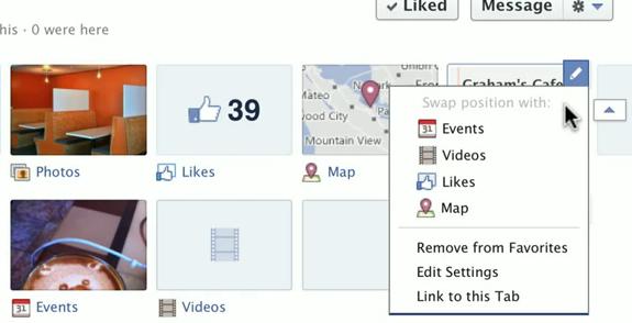 Verwissel de onderdelen in het menu van je Facebook bedrijfspagina