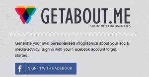 Ga in je webbrowser naar GetAbout.Me