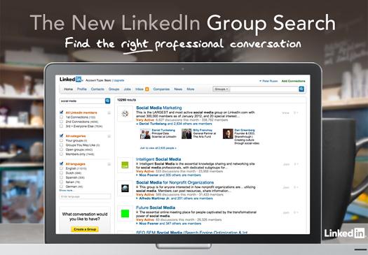 Verbetert zoeken naar LinkedIn groepen