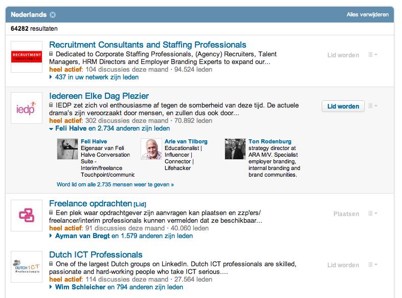 LinkedIn verbetert zoeken naar LinkedIn groepen ...