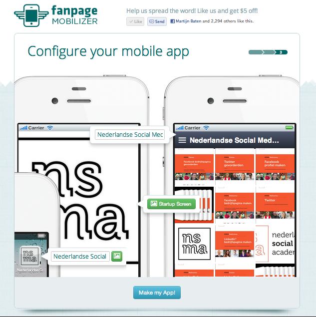 Maak een mobiele applicatie van je Facebook Bedrijfspagina