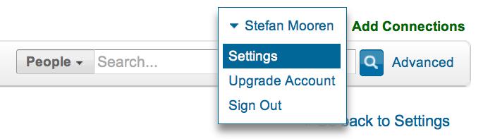 LinkedIn - Instellingen - Settings