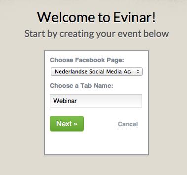 Start een nieuwe livestream op Evinar