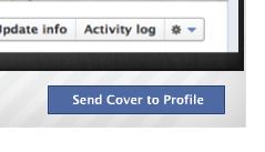 Plaats de persoonlijke omslagfoto op een Facebook bedrijfspagina