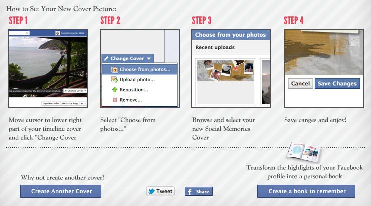 Plaats de eigen gemaakte omslagfoto op je Facebook profiel