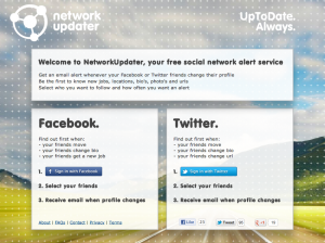 Start met de NetworkUpdater op Facebook