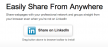 LinkedIn - Sharing Bookmarklet