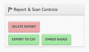 Report & Scan Controls Social Crawlytics