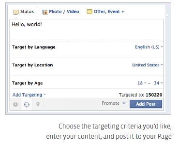 Het gerichter plaatsen van statusupdate vanaf een Facebook bedrijfspagina