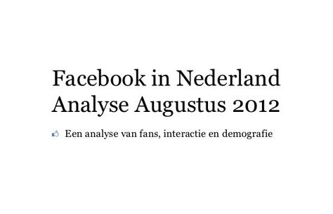 Facebook in Nederland Analyse Augustus 2012