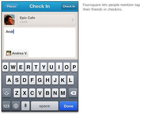 Foursquare maakt het mogelijk Facebook vrienden te taggen