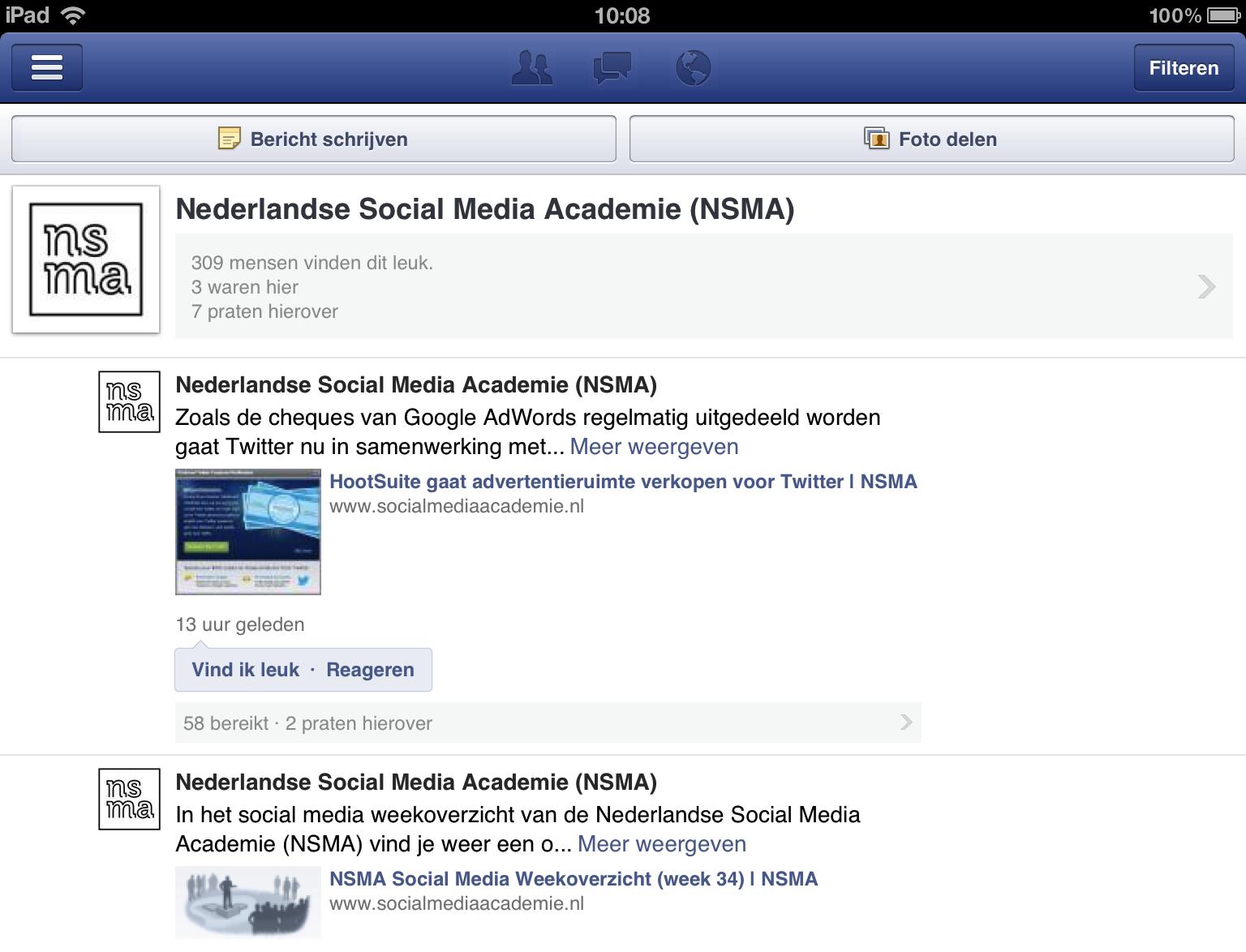 De Facebook Paginabeheer app