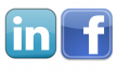 linkedin facebook logos