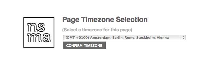 Selecteer de tijdzone van de bedrijfspagina