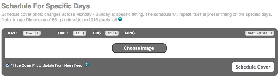 Het selecteren van een omslagfoto in het Pagecovery dashboard