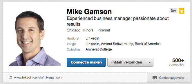 Mike Gamson LinkedIn