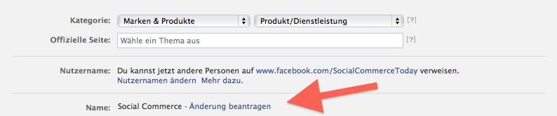 Aanpassen naam Facebook bedrijfspagina