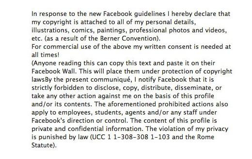 Nep bericht verspreid via Facebook