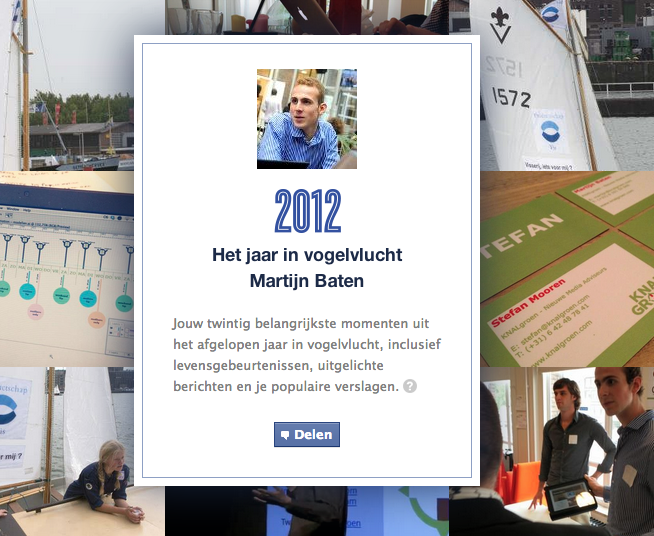 Deel je eigen Facebook jaaroverzicht