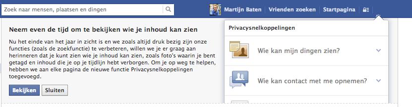 Nieuwe privacyinstellingen Facebook