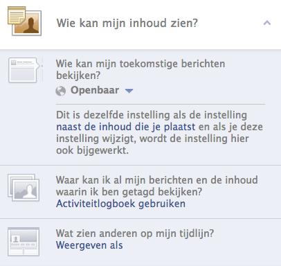Wie kan mijn inhoud zien? - Facebook privacyinstellingen
