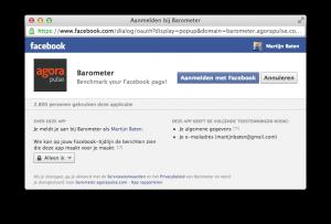 Koppel de Facebook Page Monitor aan Facebook
