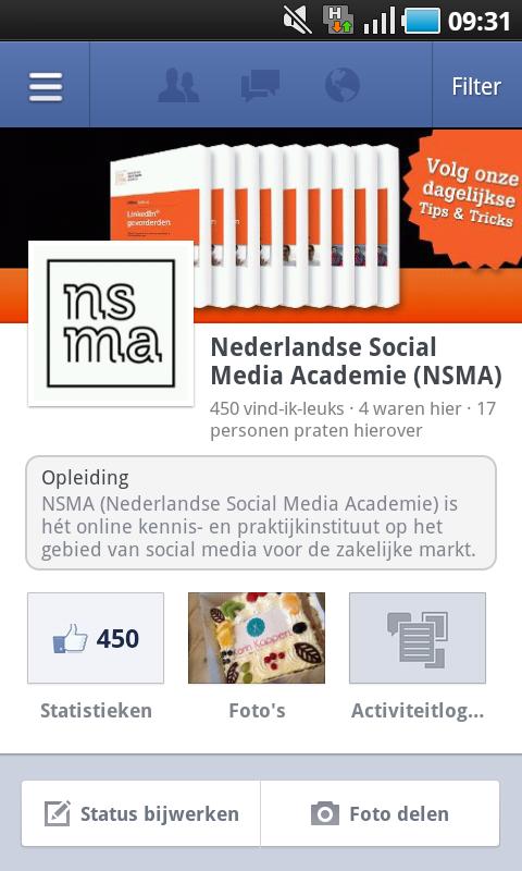 NSMA Facebook Paginabeheer app