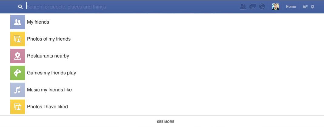 Zoekbalk Facebook Graph Search
