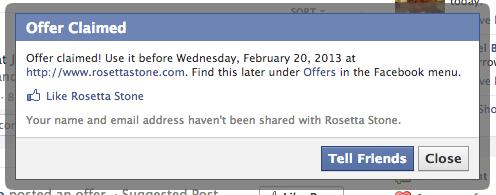 Attenderen van vrienden op Facebook Aanbieding