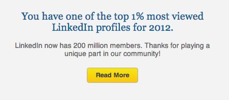 LinkedIn - vindbaarheid - felicitatie